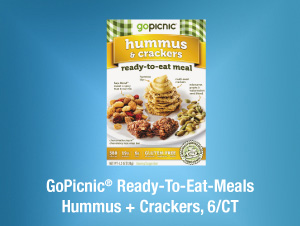 GoPicnic® Ready-To-Eat-Meals Hummus + Crackers