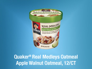 Quaker® Real Medleys Oatmeal Apple Walnut Oatmeal