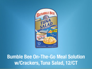Bumble Bee On-The-Go Meal Solution w/Crackers, Tuna Salad